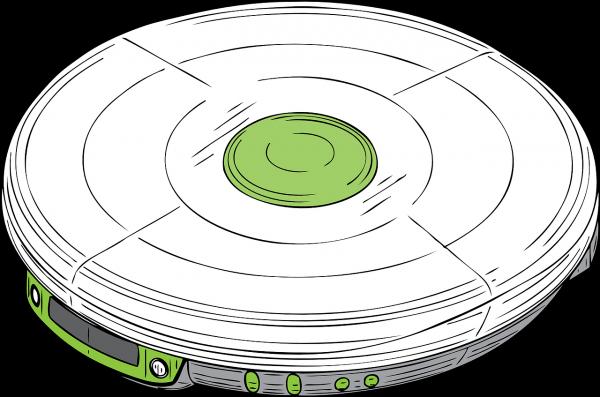 Photo d'un baladeur CD